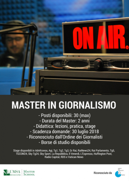 Open Day Master in Giornalismo a Roma